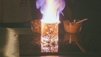 candy burns in a chemical reaction