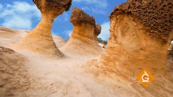 mushroom rocks are a great example of erosion