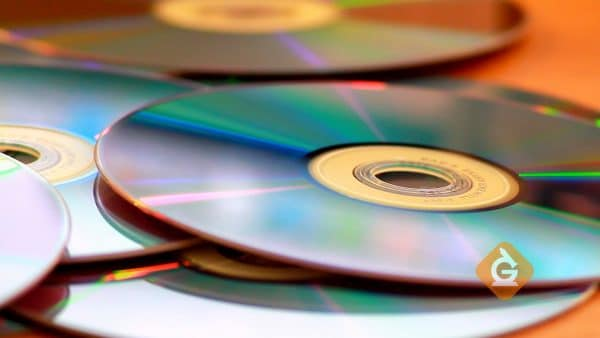 closeup of CDs on a table which can store data digitally