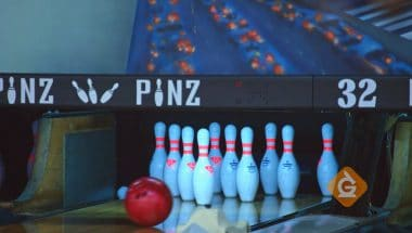 You can see an example of friction when you go bowling