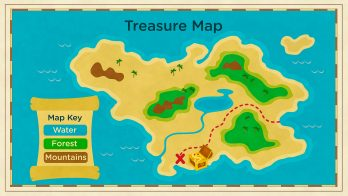treasure map diagram for kids