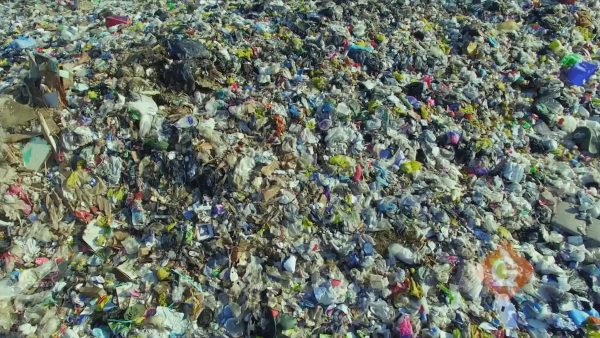 aerial view of a landfill