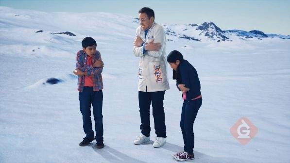 scientist and kids explore freezing