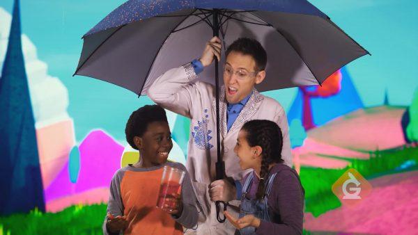scientist and kids explore liquids