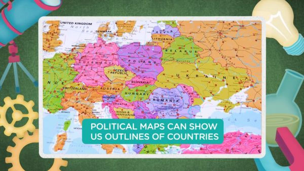 political map of Europe showing the boundaries of countries